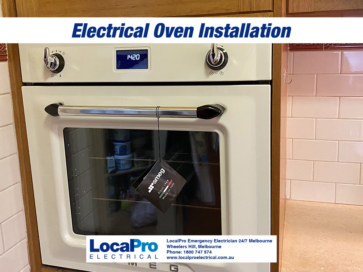 electric oven installation